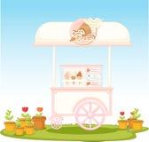 Ice cream cart Stock Photography