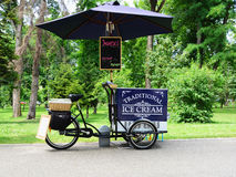 Ice cream cart on a bicycle Stock Photos