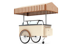 Ice cream cart. 3d rendering Stock Photography