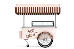 Ice cream cart. 3d rendering Stock Images