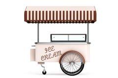 Ice cream cart. 3d rendering Stock Images