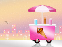 Ice cream cart Royalty Free Stock Photography