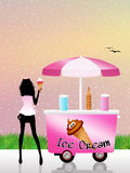 Ice cream cart Royalty Free Stock Image