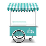 Ice cream cart. Illustration on white Royalty Free Stock Image