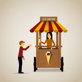 Ice cream cart. Royalty Free Stock Images