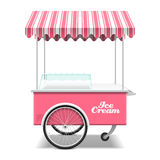 Ice cream cart. Rose ice cream cart vector illustration Stock Photo
