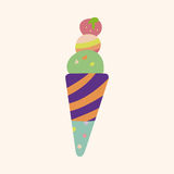 Ice cream cartoon elements vector,eps Stock Images