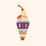 Ice cream cartoon elements vector,eps. Vector illustration file Royalty Free Stock Images