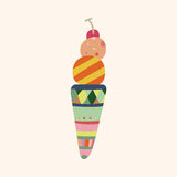 Ice cream cartoon elements vector,eps Royalty Free Stock Photos