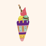Ice cream cartoon elements vector,eps Stock Photography