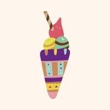 Ice cream cartoon elements vector,eps Stock Photography