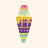 Ice cream cartoon elements vector,eps Stock Photo