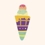 Ice cream cartoon elements vector,eps Stock Photo