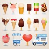 Ice cream cartoon icons set Stock Photography
