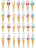 Ice cream character collection Stock Images
