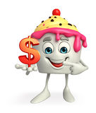 Ice Cream character with dollar sign Stock Image