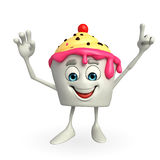 Ice Cream character is hallo pose Royalty Free Stock Image