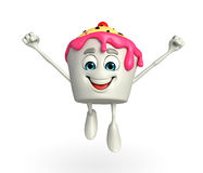 Ice Cream character is jumping Stock Image