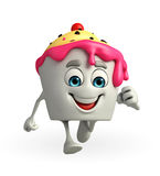 Ice Cream character is running Royalty Free Stock Photo