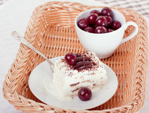 Ice cream with cherries Royalty Free Stock Image