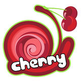 Ice cream cherry Royalty Free Stock Image