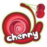 Ice cream cherry stock illustration