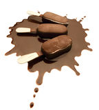 Ice Cream Chocolate Bar Splash Royalty Free Stock Photos