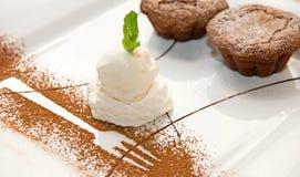 Ice-cream chocolate desserts Stock Image