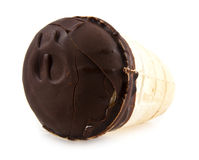 Ice-cream in a chocolate Stock Photography