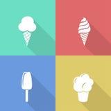 Ice cream icons Stock Images