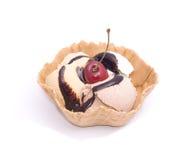 Ice-cream with chokolade Royalty Free Stock Photography