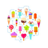 Ice cream in circle shape Royalty Free Stock Photography