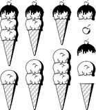 Ice cream clipart Royalty Free Stock Images