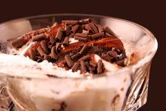 Ice cream close-up stock photo
