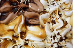 Ice cream close-up. Abstract background. royalty free stock photos