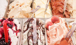 Ice cream closeup in gelateria Stock Photo