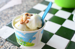 Ice cream. Coconut sweet ice cream very sweet Royalty Free Stock Photos