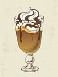 Ice cream with coffee cocktail Stock Photography