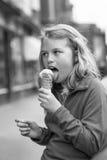 Ice cream on a cold day Stock Photos