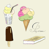 Ice-cream collection Royalty Free Stock Photos