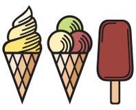 Ice cream collection Stock Photos