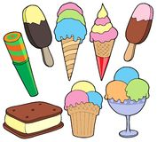 Ice cream collection Royalty Free Stock Photography