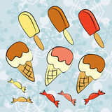 Ice cream collection Royalty Free Stock Photo