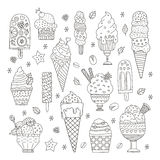 Ice Cream Collection Stock Image
