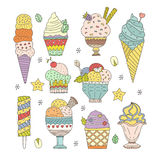 Ice Cream Collection Stock Photo