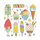 Ice Cream Collection Royalty Free Stock Images