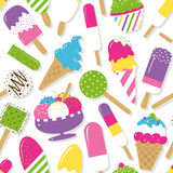 Ice cream collection pattern Royalty Free Stock Photography