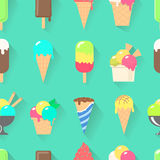 Ice cream collection seamless pattern Royalty Free Stock Image