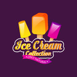 Ice cream collection vector illustration. Ice cream emblems, label or badge vector illustration Stock Photography