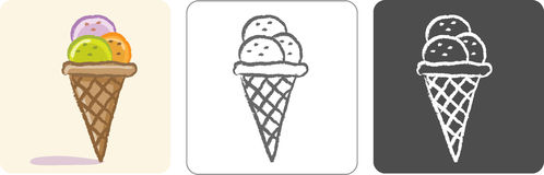 Ice Cream Color Sketch Stock Photography